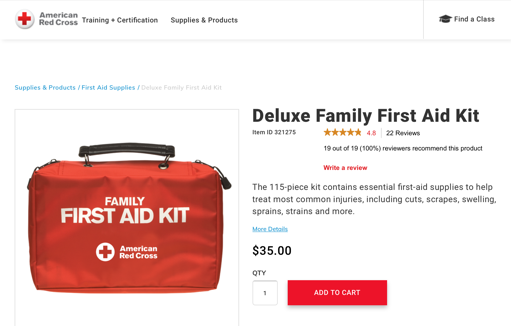 Red Cross Medical Supply Kit
